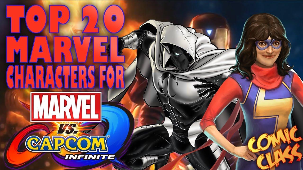 64a3fbb7693 TOP 20 Marvel Characters For Marvel Vs Capcom Infinite - Comic Class -  YouTube