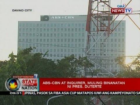 SONA: ABS-CBN at Inquirer, muling binanatan ni Pres. Duterte