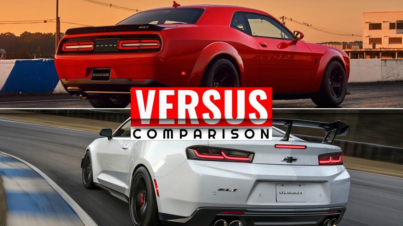 2018 Dodge Challenger Demon Vs 2018 Camaro Zl1 1le Youtube