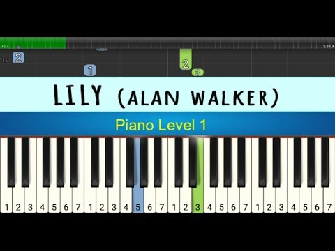 Not Piano Lily - Alan Walker - Tutorial Piano Level 1