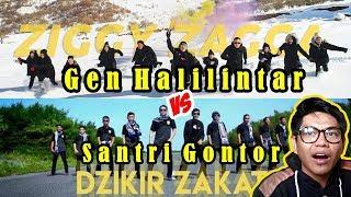 GEN HALILINTAR (ZIGGY ZAGGA) VERSI SANTRI - (DZIKIR ZAKAT) MUSIC VIDEO #ZiggyZaggachallenge || REACT