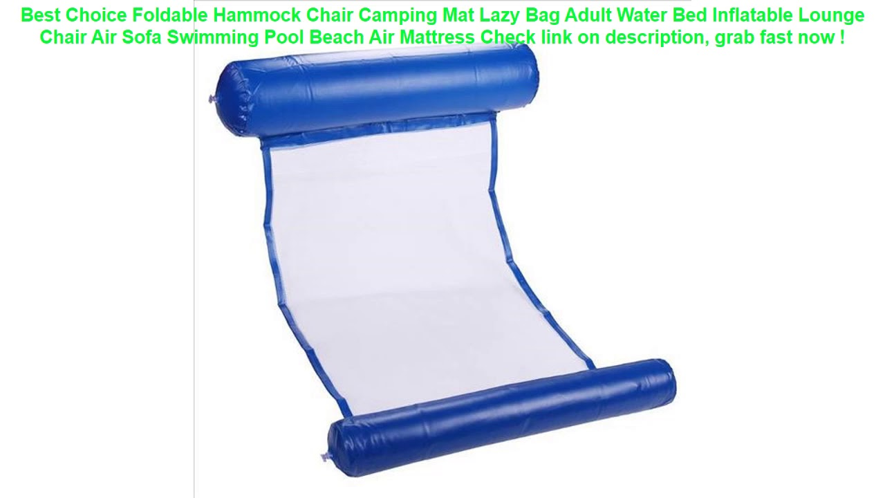 Foldable Hammock Chair Camping Mat Lazy Bag Adult Water Bed