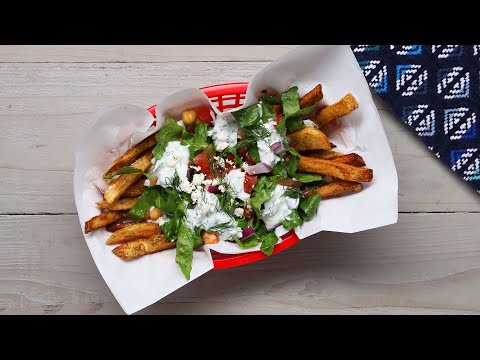 Loaded Mediterranean French Fry Salad • Tasty