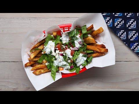 Loaded Mediterranean French Fry Salad • Tasty