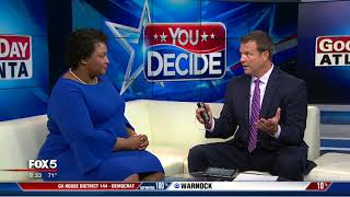 Stacey Abrams stops by Good Day Atlanta
