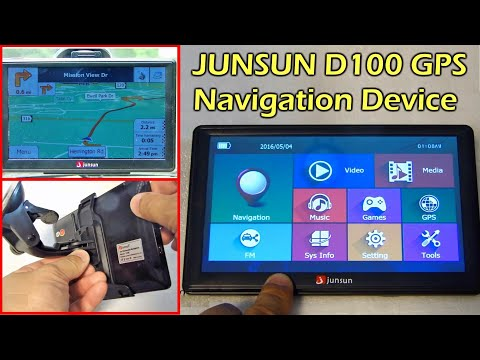 """Junsun D100 7"""" GPS Navigator with World Map - Gearbest"""