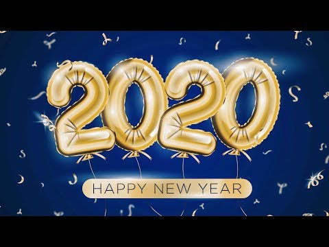 Illustrator Tutorials | Happy New Year 2020, Color of the Year Classic Blue, Stock Vector, TL thumbnail