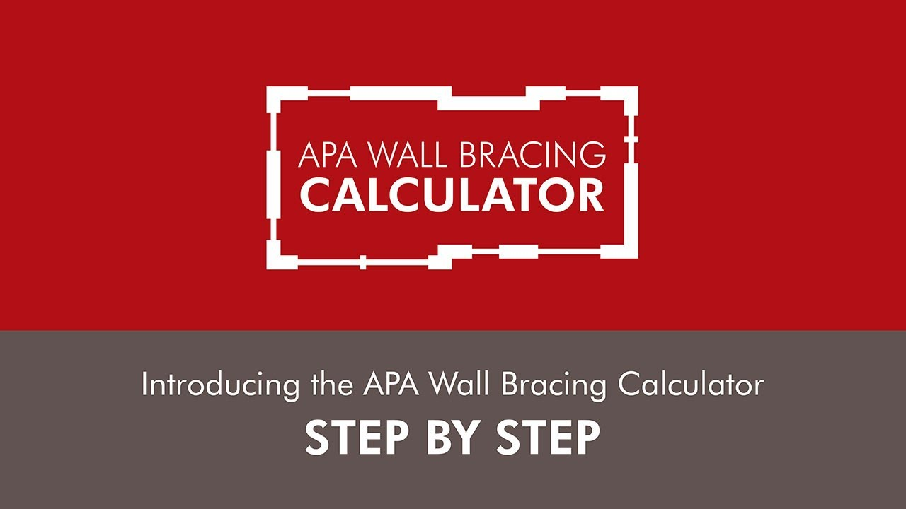 Introducing the apa wall bracing calculator step by step for Lumber calculator for walls