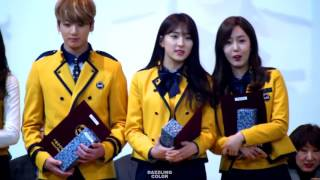 Gambar cover HD Fancam 170207 WJSN Eunseo, GF SinB, BTS Jungkook   Interaction @ SOPA Graduation Stage   YouTube