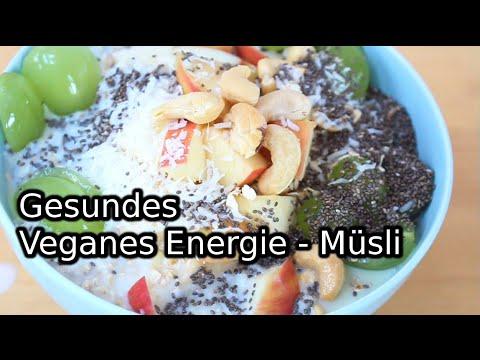 Gesundes veganes  Energie - Frühstücksmüsli // Fittes Frühstück