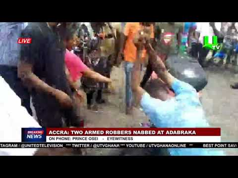 Two suspected armed robbers nabbed at Adabraka