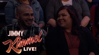 Video Behind the Scenes with Jimmy Kimmel and Audience (Couple Celebrating Anniversary) download MP3, 3GP, MP4, WEBM, AVI, FLV November 2017