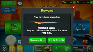 8 Ball Free Rocket Cue New Reward Link All Time Working