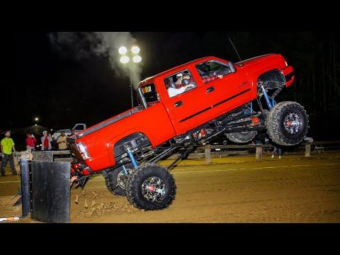 Wheel Standing Mega Trucks at Blackstone VA April 20 2019
