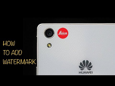 How to add huawei p10 watermark manually~