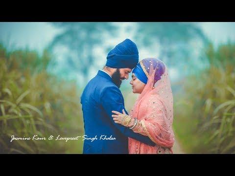 Jasmine Kaur  Lovepreet Singh Khalsa  Anand Karaj  Gursikh Couple  Singhfilms  2018
