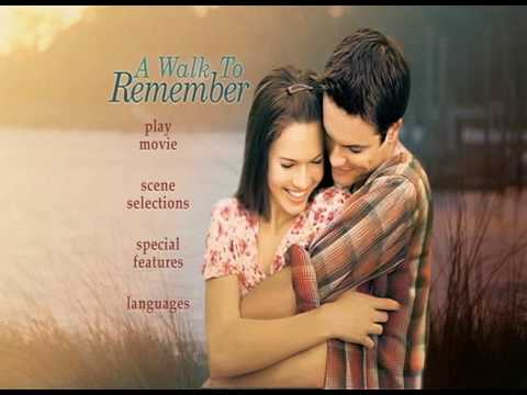 A Walk To Remember DVD Menu