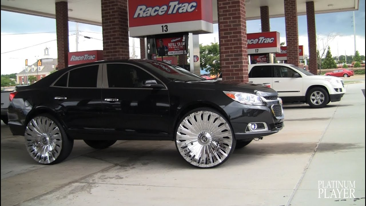 22 Inch Tires >> MALIBU on 28 INCH MEGA SPINNERS goin to STUNTFEST 2014 - YouTube