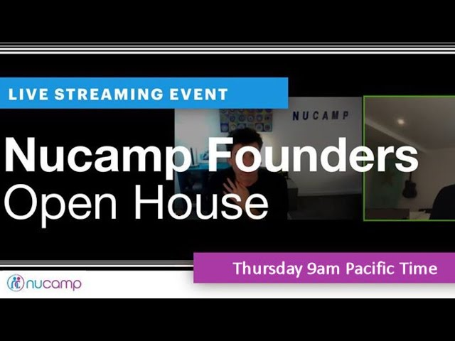 [Live Event] Nucamp Founders Open House March 4th, 2021