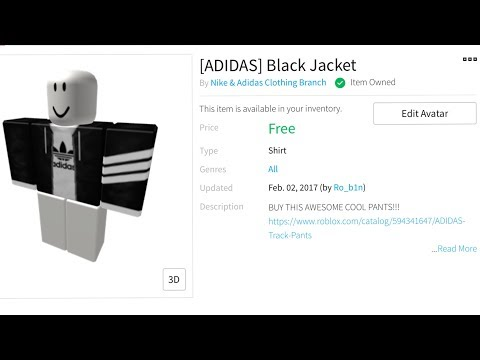 White Adidas Jacket Roblox How To Get Free Adidas Hoodie Roblox Youtube