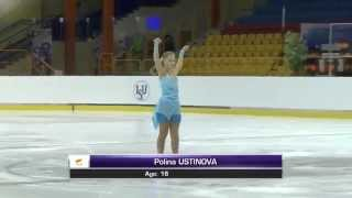 2015 ISU Jr. Grand Prix - Torun Ladies Short Program Polina USTINOVA CYP