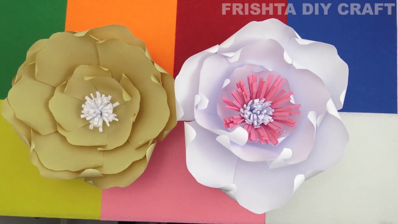 DIY Paper Flowers Wall Art, Room Decor, How To Make Paper Flower ...