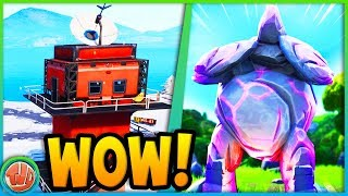 GIANT ROCK MAN & FREE TIER IN SECRET CAVE!! (WEEK 5)-Fortnite: Battle Royale