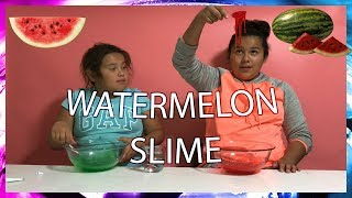 WATERMELON SLIME! From Shopping for Slime at Michaels for DIY Slime Recipe Ingredients!