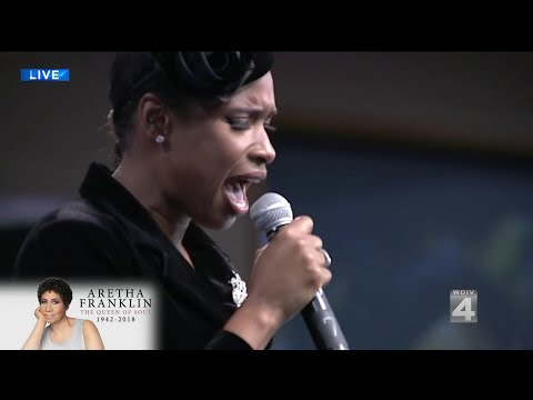 Jennifer Hudson performs Amazing Grace at Aretha Franklins funeral