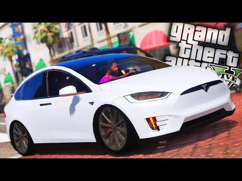 Tesla Model X P90D Drag Racing! - GTA 5 Street Outlawz LS - Day 48