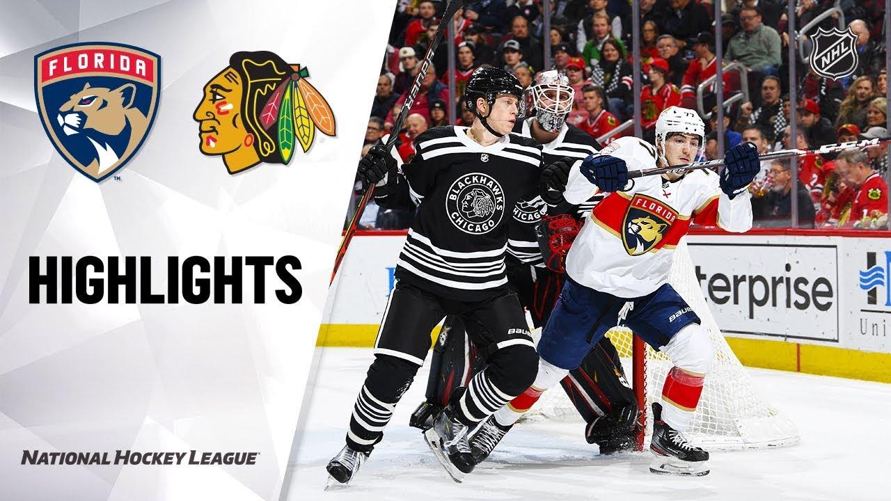 NHL Highlights | Panthers @ Blackhawks 1/21/20