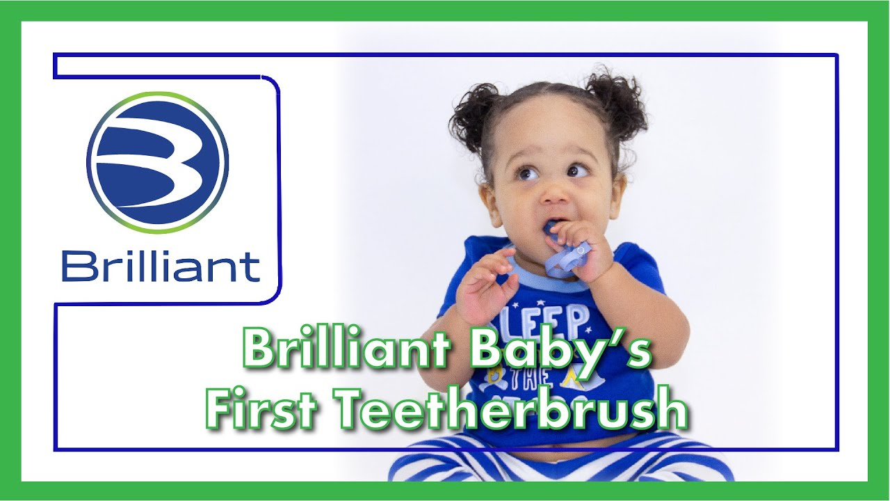 Teething Brush Baby Buddy by Brilliant | Bright Ideas for Better Lives.