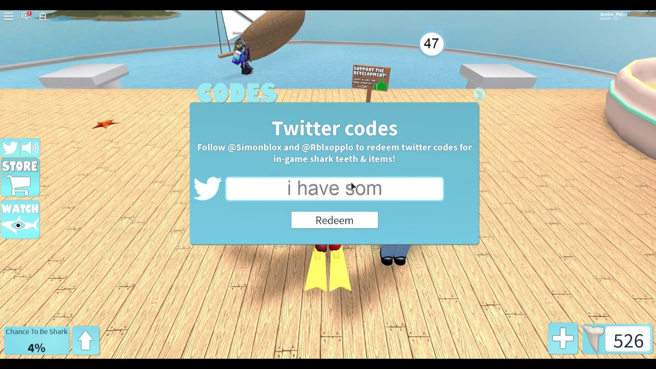 codes for sharkbite roblox 2019