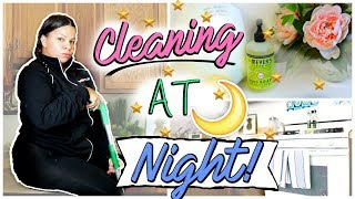 SPEED CLEANING THE KITCHEN AFTER DINNER | CLEANING MOTIVATION |#sfCleaningChallenge
