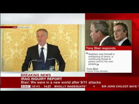 Emotional Tony Blair responds to Iraq Chilcot Inquiry