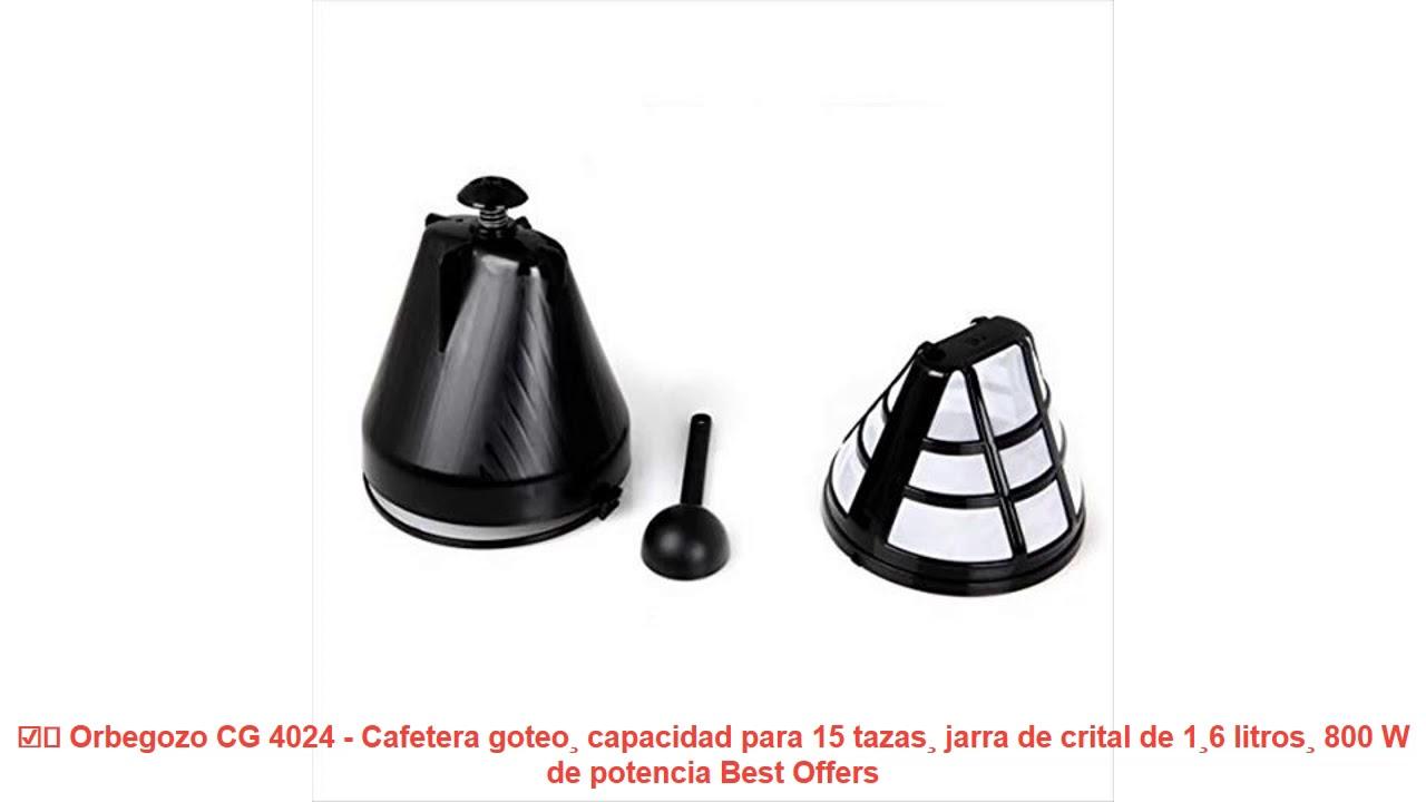Orbegozo CG 4024 Cafetera de goteo 800 W Negro