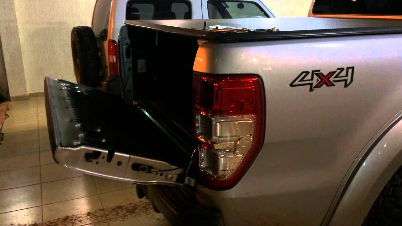 2016 Ford Ranger >> amortecedor na tampa da caçamba Ranger T6 (PX) - YouTube