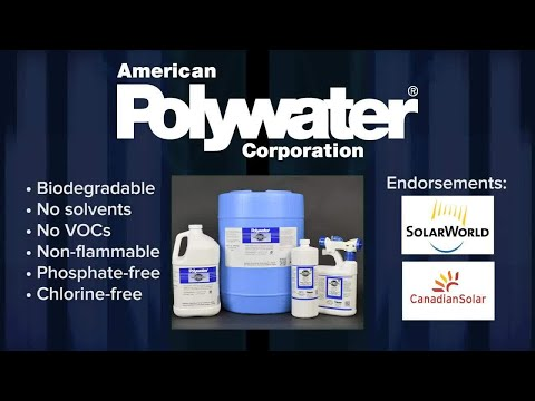 How to clean solar panels using American Polywater's Solar Panel Wash