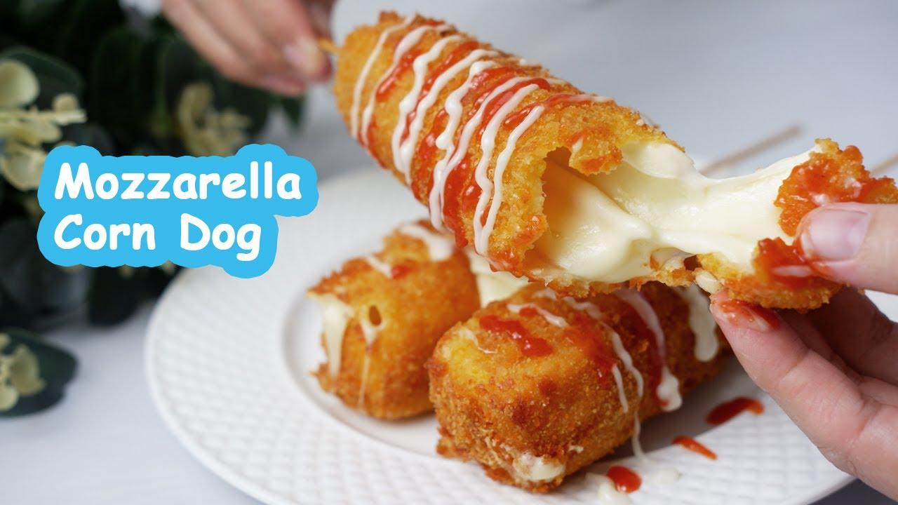 Resep Mozzarella Cheese Corn Dog Tanpa Ragi Youtube