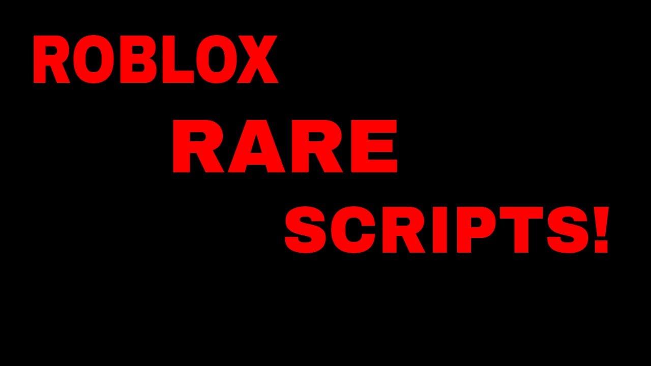 Roblox Script Pack Full Of Rare Scripts Youtube