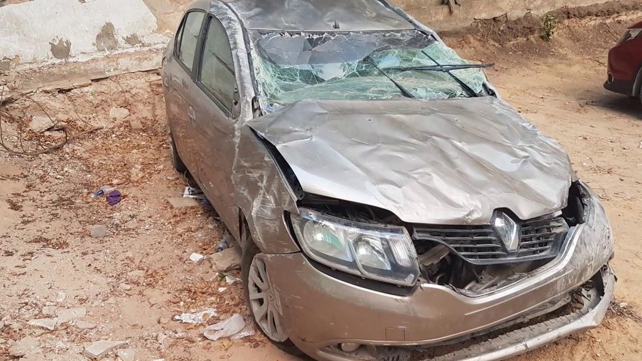 سيارة حادثة للبيع من ياسر لبيع وشراء سيارات الحوادث ماركة لوجان