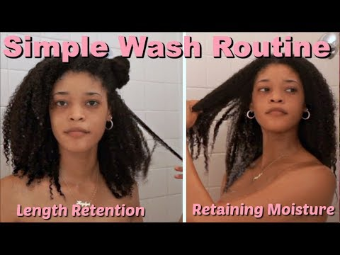 Wash Day Routine for Natural Hair | Promotes Length Retention and Moisture