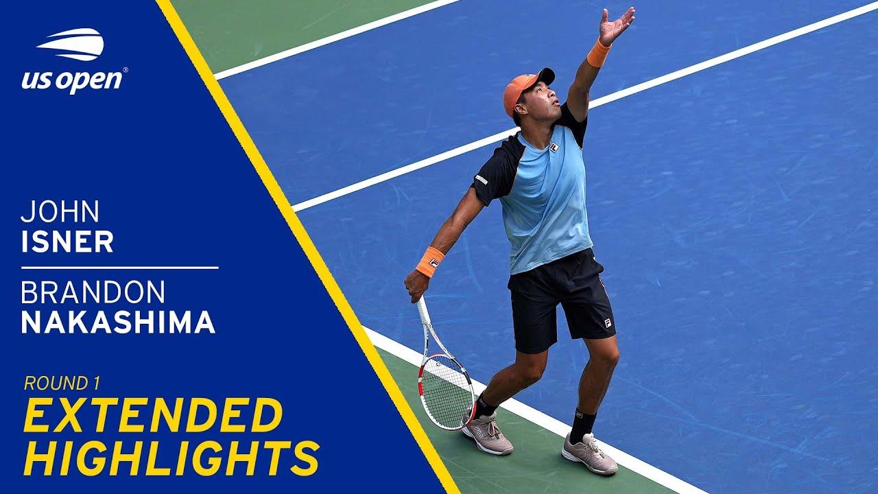 John Isner vs Brandon Nakashima Extended Highlights | 2021 US Open Round 1