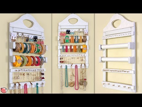 Multi Use... Jewelry & Bangle Holder || DIY Room Organization Idea !!!