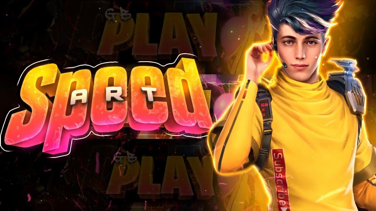Speed-Art Banner Gamer  Capa Para Canal De Free Fire! Alan Design Android!