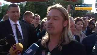 Umjubelter Star: Brad Pitt beim Moskauer Filmfestival