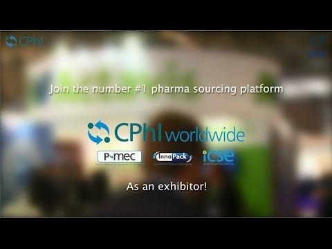 Become an exhibitor at CPhI Worldwide 2015!
