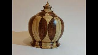 Wood turning - The segmented box