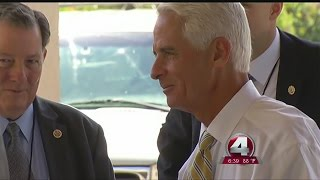 Crist makes property insurance an election issue