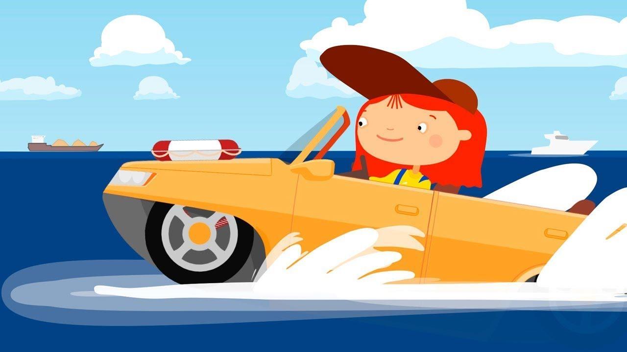 Çizgi film - Doktor Mac Wheelie - Amfibiyen araç.